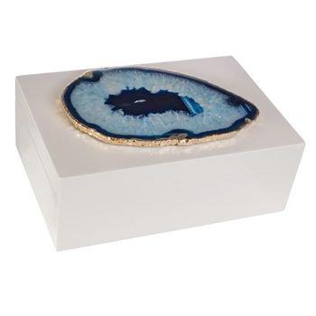 caixa branca pedra agata azul borda dourada 20879027 1 20190802143132