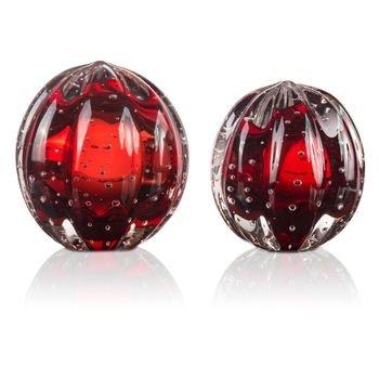 par de esferas murano senna p m vermelho granada 20878861 1 20190628154600