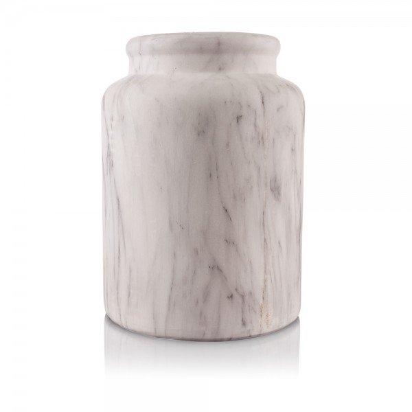 vaso resina marmorizado branco
