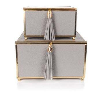 set caixas decorativas em couro cinza 20878825 1 20190808180420