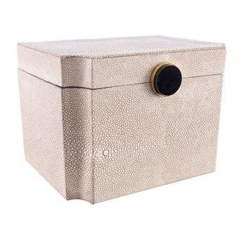 caixa decorativa bege c pedra preta 20 5cm x 16 3cm x 14cm 20878807 1 20190705164515