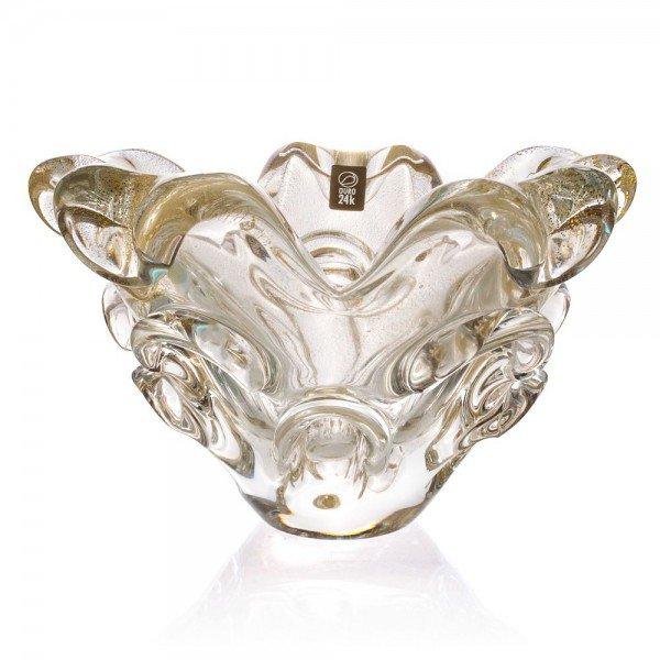 centro de mesa murano fabbri m transparente com ouro 20878777 1 20190619151957