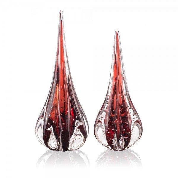 par de gotas em cristal de murano fenix m g vermelho granada 20877731 1 20190717164041