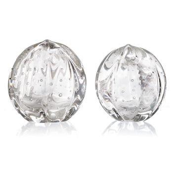 par de esferas em cristal murano senna p m transparente 20875248 1 20190604142532