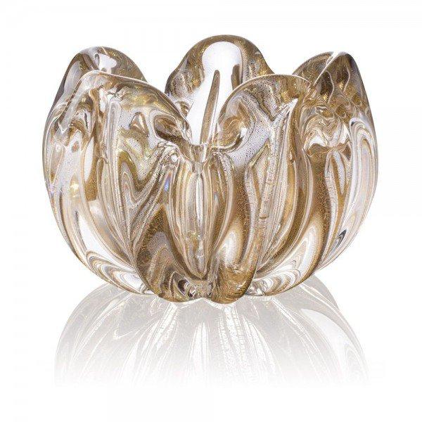 centro de mesa murano bowl c ouro transparente 20878597 1 20190712154733