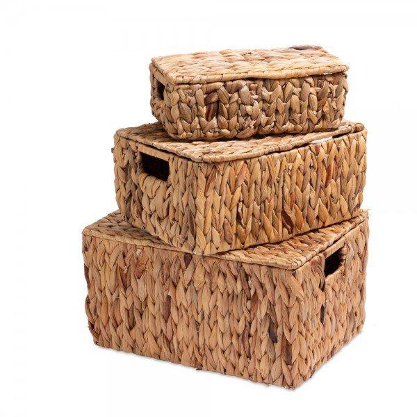 cestos c tampa de fibra natural 3 pcs 20879261 1 20190920165335