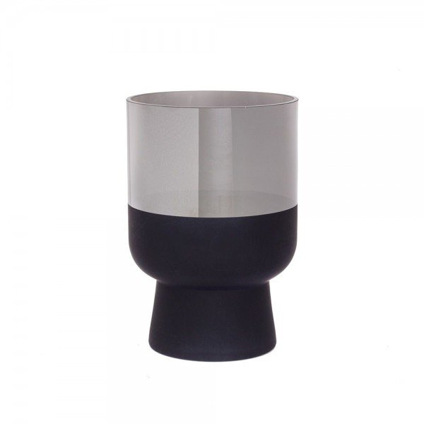 vaso de vidro metalizado g prata e preto 20879251 1 20190919175723