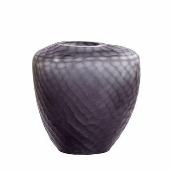 vaso de vidro fosco texturizado mod2 cinza 20879245 1 20190918175810