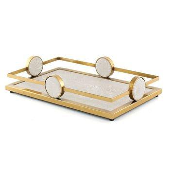 bandeja retangular dourada couro sintetico 20879301 1 20190926174414