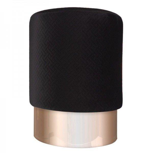 puff em veludo preto com metal rose gold 20879317 1 20190930165403