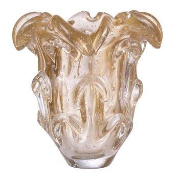 vaso cristal murano razzoli cor transparente c ouro 20879231 1 20190930181003