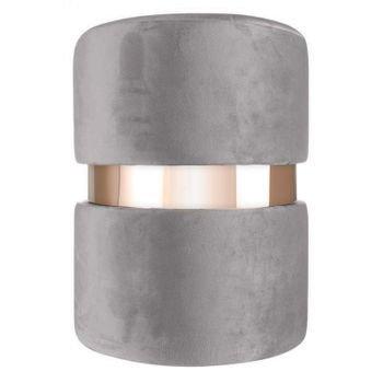 puff em veludo cinza com metal rose gold 20879315 1 20190930164327