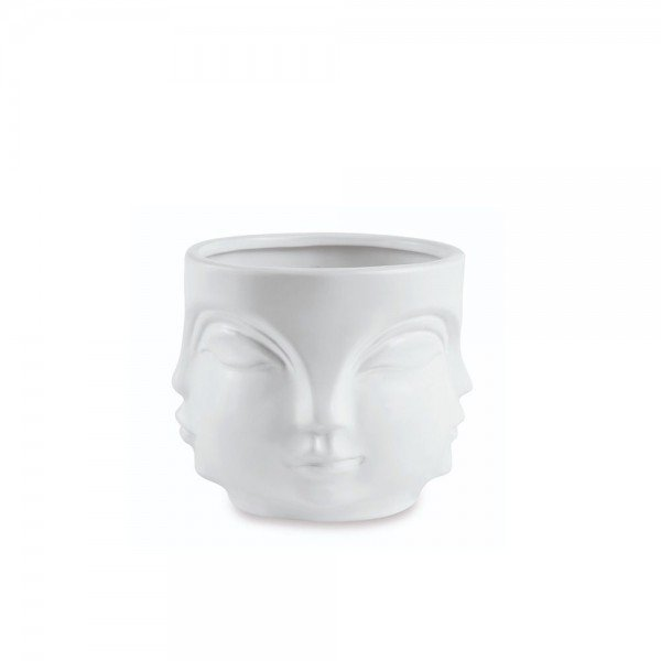 cachepot rosto em ceramica p branco 20879311 1 20191003175310