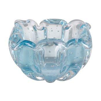 vaso murano gouda azul petroleo