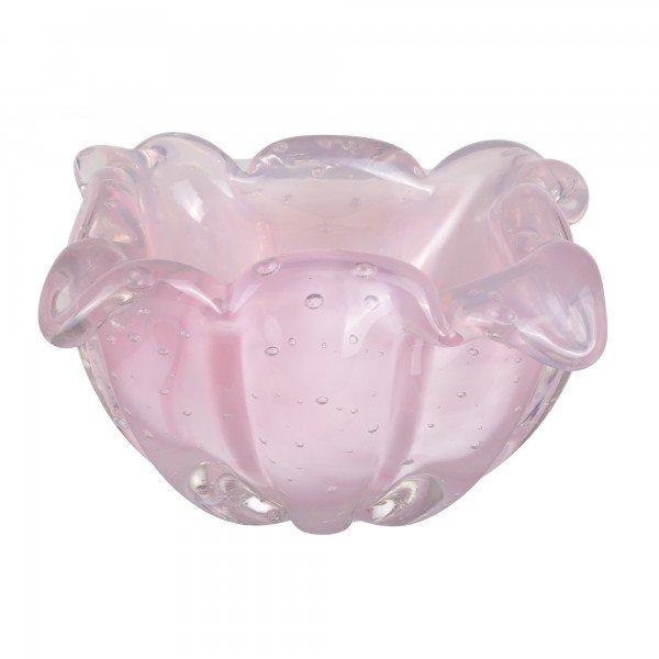 vaso murano gouda rosa leitoso
