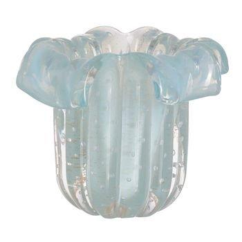 vaso murano babado azul tiffany