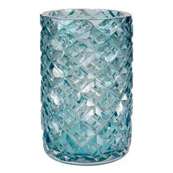 vaso murano lapidado azul