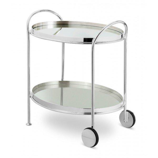 carrinho fiocco oval prata pequeno com espelho