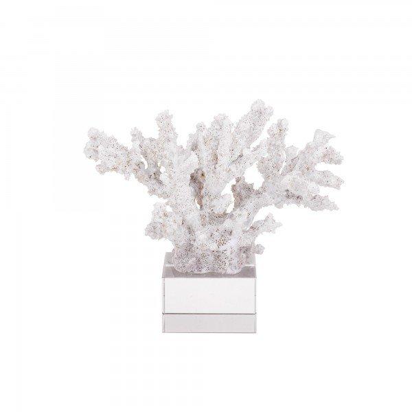 coral decorativo branco base acrilico