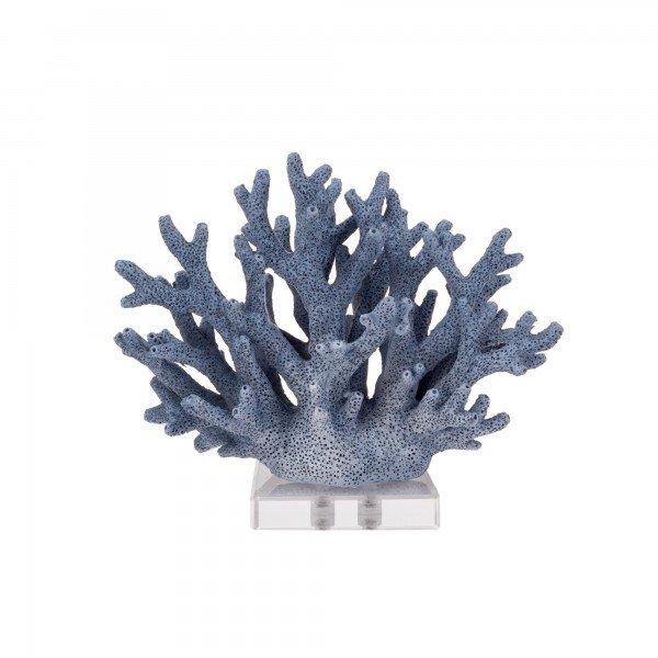 coral decorativo azul base acrilico