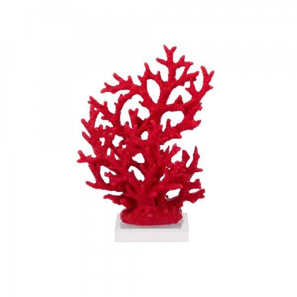 coral decorativo vermelho pequeno base acrilico