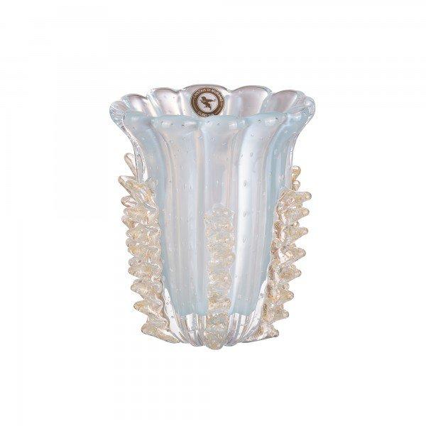 vaso di murano donati azul ceu ouro