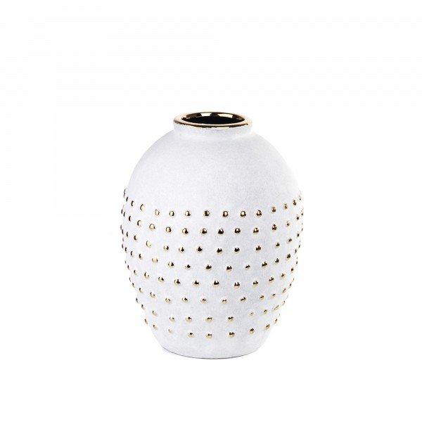 vaso ceramica poa branco g