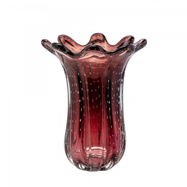 vaso de murano everest rubi sottile casa