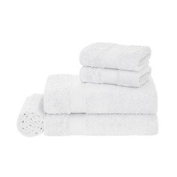 jogo banho 5 pecas trussardi 100 algodao egitto elegance branco